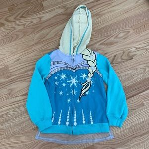 Frozen Elsa Hooded Sweatshirt Detachable Cape XS